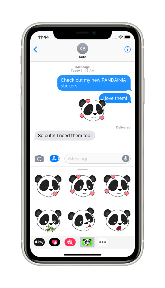 Pandainia Sticker App on iPhone 1