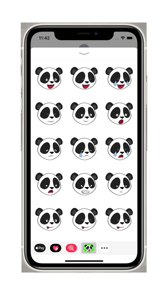 Pandainia Sticker App on iPhone 2